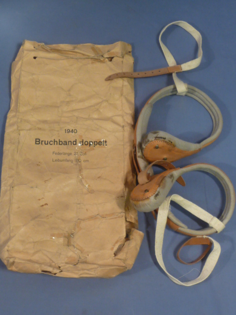 Original WWII German Medical Item, Hernia Support in Paper Sack