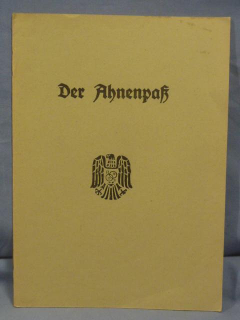 Original WWII German Family Ancestry Book, Unused